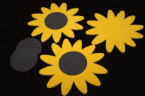 Foam Sunflower Shapes for Summer Crafts