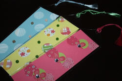 Pastel Bookmarks in Vinyl Sleeves with Tassels