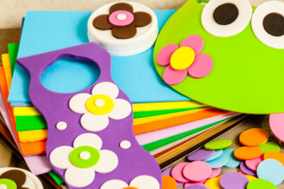 craft foam shapes, stickers, sheets, & more