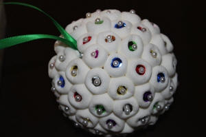 Marshmallow Christmas Ornament