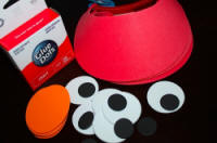 Red Visor Supplies for Elmo Party