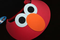 Red Visor with Orange Nose for Elmo Party