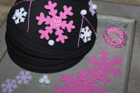 Foam Visors with Snowflakes