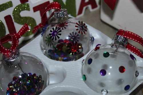 Easy to Make Sparkling Ornaments